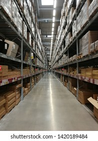 BANGKOK, THAILAND - MAY 23, 2019: Interior view inside IKEA store. IKEA is the world's largest furniture retailer.