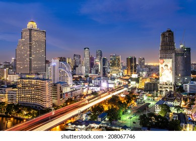 BANGKOK, THAILAND - MAY 24: Traffic in Bangkok on May 24, 2014. Bangkok is the capital city of Thailand with a population of over eight million.