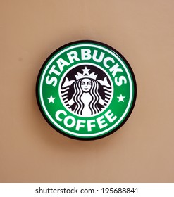 BANGKOK, THAILAND - MAY 28, 2014: The Starbucks Coffee sign at the circle shopping mall, Bangkok. Starbucks is the world's largest coffee house with over 20,000 stores in 61 countries.