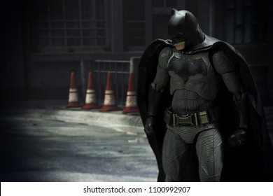 Bangkok, Thailand - May 29,2018 - Medicom, Japanese toy manufacturer, launch action figure series Mafex based on famous DC Comic's character Batman.