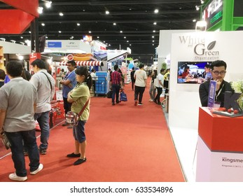 Bangkok, Thailand - May 3, 2017: People walking in Architect '17. It is the 31st ASEAN's Largest Building and Construction Technology Exposition.