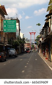 Bangkok ,Thailand - May 30, 2015 : The Giant Swing named Sao Ching Cha , one of must visit place in Bangkok.
