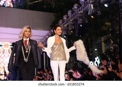Bangkok, Thailand - May 31, 2017 ; Fashion Show of Emporium & EmQuartier Fierce Fashion to celebrate its 2nd anniversary The world-class fashion destination at The Emquartier Department Store