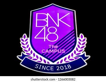 BANGKOK, THAILAND : May 31 ,2018 - BNK48 The Campus logo at BNK48's theater in The Mall Bangkapi.