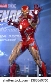 Bangkok, Thailand - May 4, 2019: The Statue of Ironman from A Marvel Superhero Movie Avengers 4: Endgame Displays at the Theater