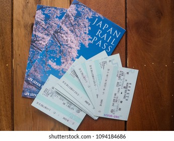 Bangkok, THAILAND - MAY 5, 2018 : JR Pass for foreigner most popular transportation in Japan and train ticket