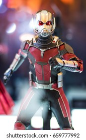 Bangkok, Thailand - May 6, 2017 : portrait shot of Ant man model in Avengers movie on display at Central World, Bangkok Thailand. Editorial Used Only.