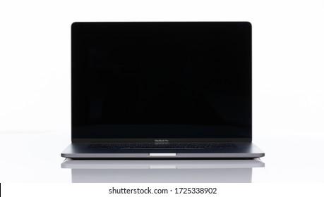 Bangkok, Thailand -May 8 2020:MacBook Pro 16 inch on a white
