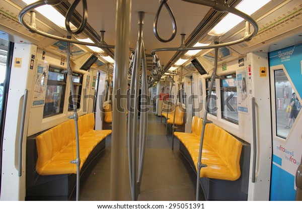 Bangkok, Thailand - May 9, 2015: The Bangkok Mass Transit System , known as BTS or Skytrain, is an elevated rapid transit system in Bangkok. The system consists of 34 stations along two lines.