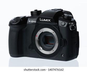 Bangkok, Thailand - May25,2019: Panasonic Lumix DC-GH5 mirrorless camera