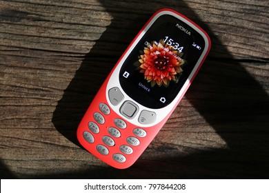 BANGKOK THAILAND : Nokia 3310 (2017) launch on september 7 ,2017 bangkok ,thailand