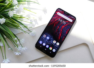 BANGKOK THAILAND : Nokia launch new smartphone Nokia 6.1 Plus on September 18 ,2018 bangkok ,thailand