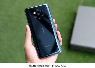 BANGKOK THAILAND : Nokia launch new smartphone Nokia 9 PureView on July 2 ,2019 bangkok ,thailand