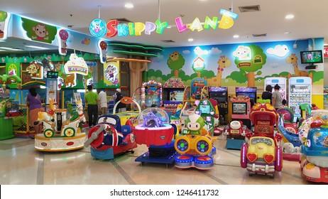 BANGKOK, THAILAND - NOV 6 : Kid zone at Lotus super store on November 6, 2018 in Bangkok.