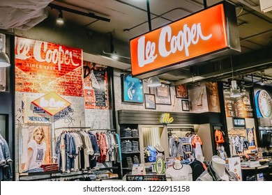 Bangkok, Thailand - Nov 8, 2018:Lee Cooper In  Department Store Thailand,Lee Cooper is a British clothing company that licenses the sale of many branded items, including denim jeans.