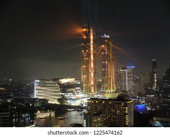 Bangkok, Thailand - November 09, 2018: Grand Opening of Iconsiam with light shows
