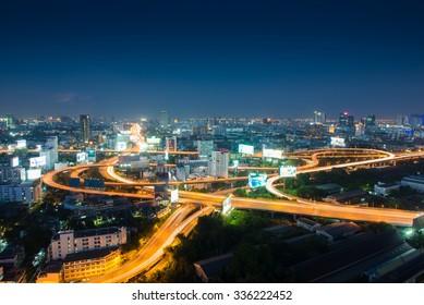 BANGKOK, THAILAND - November 1 2015 : Bangkok view, high view from skyscraper in the Bangkok on Novenber 1, 2015 in Bangkok Thailand