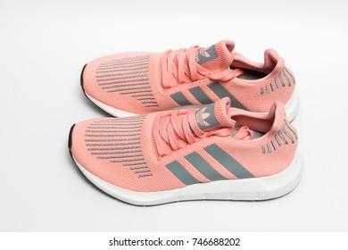 BANGKOK, THAILAND - NOVEMBER 1, 2017: Adidas swift run w 2017 sports shoes for running for woman - illustrative editorial