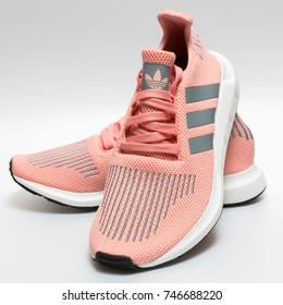 BANGKOK, THAILAND - NOVEMBER 1, 2017: Adidas swift run w 2017 sports shoes for running for woman - illustrative editorial