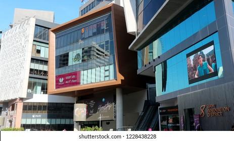 BANGKOK, THAILAND - NOVEMBER 11, 2018: View of Siam Square One shopping-mall on November 11, 2018 in Bangkok, Thailand.
