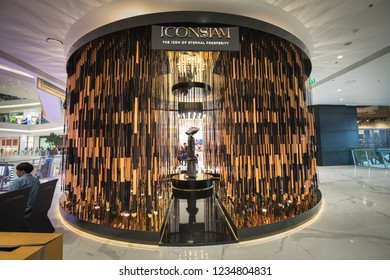 BANGKOK, THAILAND - NOVEMBER 14, 2018 :The IconSiam department store which have many shopping store, modern interiors and newest landmark at Chaopraya river bank.