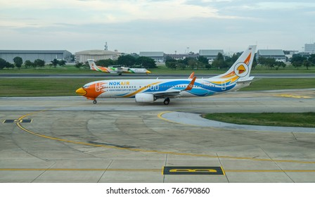 BANGKOK, THAILAND - NOVEMBER 18, 2017 : Nok Air Airplane at Don Mueng Airport.