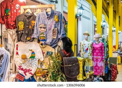 BANGKOK, THAILAND - NOVEMBER 2, 2018: Shopping street of Asiatique The Riverfront in Bangkok, Thailand.