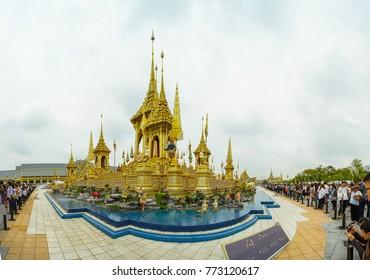 Bangkok, Thailand - November 20, 2017 - The Royal Crematorium for The Royal Funeral of His Majesty King Bhumibol Adulyadej at Sanam Luang