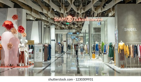 BANGKOK, THAILAND - NOVEMBER 2018 : Siam Takashimaya department store which have many shopping store on November 14, 2018 at bangkok, Thailand. Iconsiam already open November 9, 2018