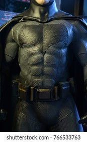 Bangkok, Thailand - November 21, 2017: Human Size Model of Batman from the Movie Justice League displays at the theater