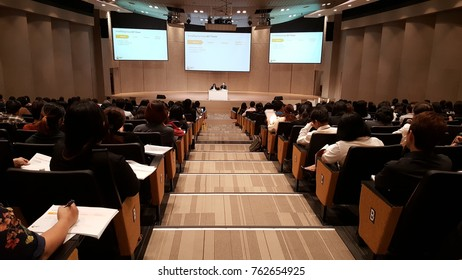 BANGKOK, THAILAND - NOVEMBER 24, 2017: SET portal system training for SET digital disclosures for listed companies at The Stock Exchange of Thailand.