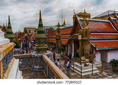 BANGKOK, THAILAND - November 24th, 2017: Magnificent architecture of Grand Palace