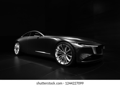 Bangkok , Thailand - November 28,2018 New Mazda Vision Coupe in the 35th Motor Expo 2018 at Challenger Hall 1-3 Impact Arena Muang Thong Thani Exhibition & Convention Center