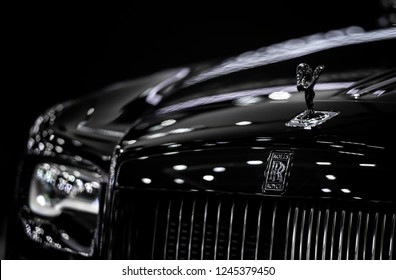 Bangkok , Thailand - November 28,2018  Rolls Royce in the 35th Motor Expo 2018 at Challenger Hall 1-3 Impact Arena Muang Thong Thani Exhibition & Convention Center