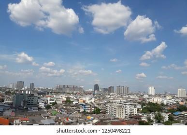 Bangkok, Thailand - November 30 2018 : View from BTS Station to Gateway Bang Sue.