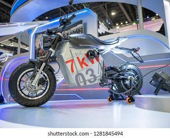 Bangkok, Thailand - November 30, 2018 :  PTT Blue Gas Energy Leader at Thailand International Motor Expo 2018 (MOTOR EXPO 2018) on Nov 30,2018 in Bangkok, Thailand.