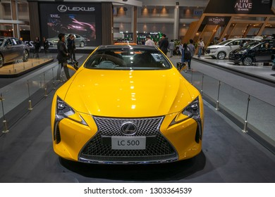 Bangkok, Thailand - November 30, 2018 : Lexus LC 500 car show at Thailand International Motor Expo 2018 (MOTOR EXPO 2018) on Nov 30,2018 in Bangkok, Thailand.