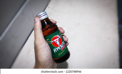 Bangkok, Thailand - November 4,2018: Carabao energy drink of thailand.