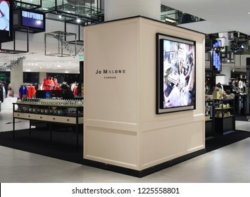 Bangkok, Thailand - November 9, 2018 : Jo Malone London shop at Siam Discovery. Jo Malone London is a British perfume and scented candle brand.