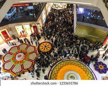 Bangkok, Thailand - November 9 2018: People are attending the Opening Ceremony of ICONSIAM Shopping Mall in Bangkok