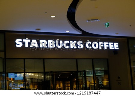 99b21bb6e23 Bangkok Thailand OCT 15 2018 Starbucks Stock Photo (Edit Now ...