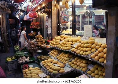 Bangkok, Thailand - Oct 20, 2010; Mango store in Thong Lo street.