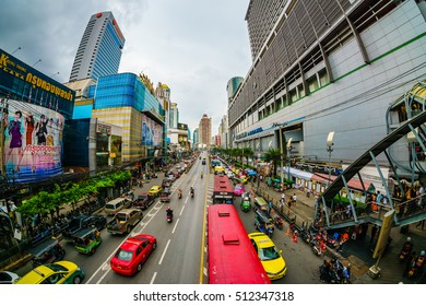 BANGKOK THAILAND - OCT 29, 2016: The view of famous Platinum shopping mall in Bangkok. This place is specialises in fashion clothes and accessories retail and wholesale.