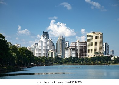 Bangkok, THAILAND - OCT 31:2015.Sukhumvit area & Benchakitti Park, Bangkok One of the key business district in Bangkok and also the top area in term of the asset value .