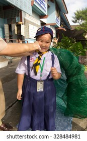 BANGKOK, THAILAND - Oct 5, 2015 : Student 7-8 years old, Welcome to Boy Scout camp in Pieamsuwan school Bangkok Thailand.