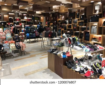 BANGKOK, THAILAND - October 04, 2018: Siam Discovery shopping center interior. In Thailand a wide selection of clothing boutiques, designer flagship stores, restaurants, daily shows and exhibitions