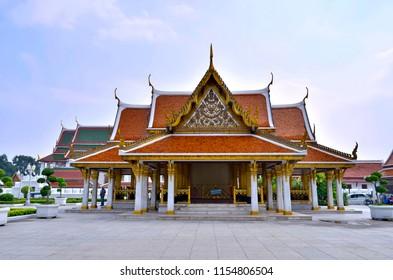 Bangkok, Thailand - October 12, 2014: Maha Chetsadabodin Royal Pavilion on Ratchadamnoen Klang Road.
