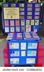 Bangkok, Thailand - October 12, 2014: On Khao San Road you can buy counterfeit ID papers, diplomas, driving licences, press cards and much more from several countries.