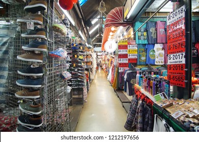 Bangkok, Thailand - October 14, 2018: View of Chatuchak market. Chatuchak Weekend Market has reached a landmark status as a must-visit place for tourists.