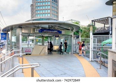 Bangkok, Thailand - October 24, 2017: Queen Sirikit National Convention Centre MRT Station